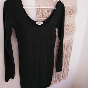 Black Long Sleeve Dress Tunic Large